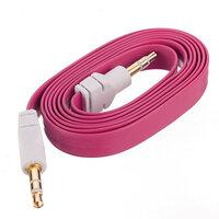Roze 3.5mm Mannelijk Audio Stereo AUX Plat Noodle Kabel Voor Mp3 PC En Overige