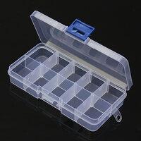 10 Vak Plastic Doorzichtig Slots Verstelbaar Organizer Craft Box