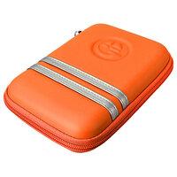 Oranje Harde Behuizing Draagtas Zipper Pouch voor 5Inch Sat Nav GPS
