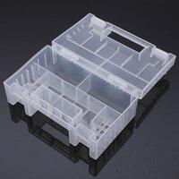 Transparant Plastic Batterij Houder Bewaardoos voor AA AAA