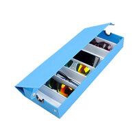 Blauw 8 Grids Bril Zonnebril Opberg Box