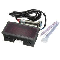 Red LED Tachometer RPM Snelheid Meter met Naderingsschakelaar Sensor NPN