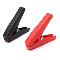 2 st 90mm 100A Plastic Krokodil Auto Batterij Clip Klem Anti-shorting Clip