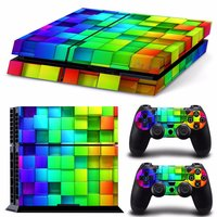 Lattice Style Vinyl Skin Decal voor PS4 Playstation 4 Console en 2 Controllers