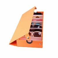 Oranje 8 Grids Bril Zonnebril Opberg Box
