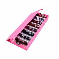 Roze 8 Grids Bril Zonnebril Opberg Box