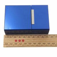 Blauw Magnetisch Inductie Aluminum Pocket voor 20 Sigaretten Sigaar Tabak Case