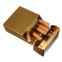 Geel Magnetisch Inductie Aluminum Pocket voor 20 Sigaretten Sigaar Tabak Case