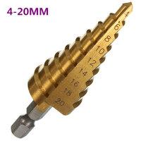 4-20mm HSS Zeshoek Schacht Pagoda Stap Boor Bit