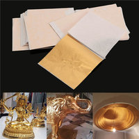 100st 8x8.5cm Champagne Goud Folie Blad Gilding Sheets Set Crafts Decor