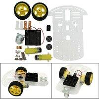 DIY Smart Motor Robot Auto Chassis Batterij Box Kit Snelheid ??Encoder Voor Arduino