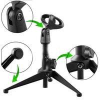 Verstelbaar Metaal Desktop Table Microfoon Klem Clip Stand Tripod