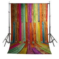 1.5x1m Kleurrijk Houten Wand Vloer Studio Achtergronddoek
