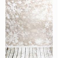 0.9mx1.5m Vinyl Sneeuwvlok Houten Vloer Studio Achtergronddoek