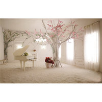 1.5x1m Binnen Piano Boom Landschap Studio Achtergronddoek