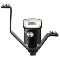 Universeel V Vorm Triple Mount Flitsschoen Flitsbeugel Stand Voor Microfoon LED Verlichting DSLR