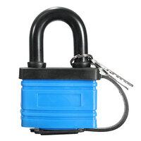 Blauw 50mm Hangslot Waterbestendig Zware Buiten Veiligheid Beugelslot met 2 Sleutels