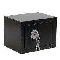 IJzer Staal Zwart Sleutel Bediend Safe Box Geld Sterk Staal Voor Thuiskantoor
