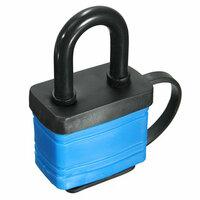 Blauw 40mm IJzer Hangslot Waterbestendig Zware Buiten Veiligheid Beugelslot met 2 Sleutels