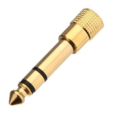 1/4 Inch 6.5mm Vrouwelijk Naar 1/8 3.5mm Mannelijk Verguld Adapter Socket