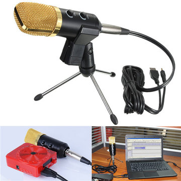 Audio Dynamic USB Condenser Geluid Opname Vocal Microfoon Mic Met Stand Mount