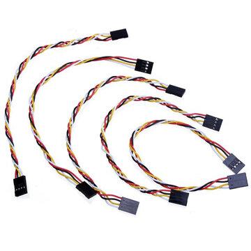 5 stuks 4 Pin 20cm 2.54mm Doorverbindingsdraad Kabels DuPont Line Voor Arduino
