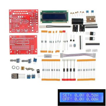 Originele Hiland 0-28V 0.01-2A Verstelbare DC gestabiliseerde voeding DIY Kit Kort Circuit Stroom beperken Bescherming