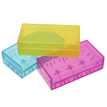 Gele Harde Plastic Batterij Case Box Houder Storage voor CR123A 18650 16340