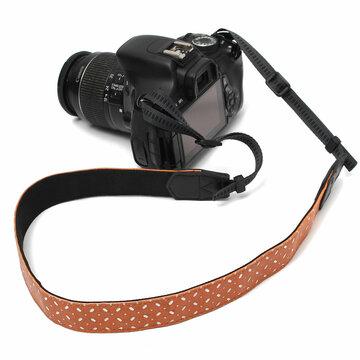 Oranje PU Camera Schouder Nek Riem Voor SLR DSLR Nikon Canon Sony