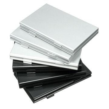 Zwart 4SD+4TF Aluminium SD MMC TF Geheugenkaart Opslag Box