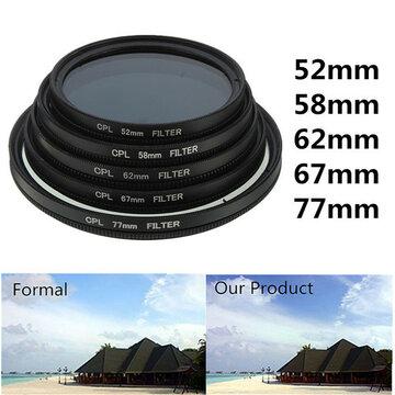 62mm Foto Digitale Slim CPL Circular Polariserende Lensfilter CPL Polarizer Voor Canon Nikon Sony