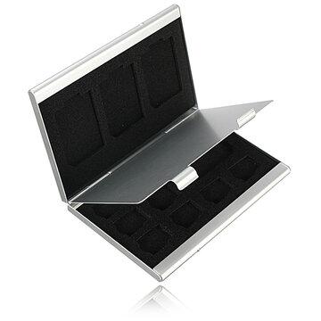 12 Slots Aluminium 8 x TF 4 x SD Geheugenkaart Opslag Box