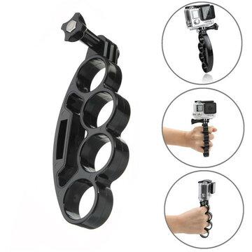 Knokkel Hand Vinger Grip Mount Handvat Houder Voor GoPro 4 3 2 Xiaomi Yi SJ4000 SJ5000 SJcam