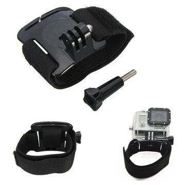 Verstelbaar Behuizing Pols Arm Riem Mount Voor GoPro Hero 2 3 4 Xiaomi Yi SJ4000 SJcam