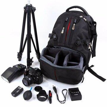 Nylon Waterdicht Schokbestendig Camera Laptop Tas Lens Case Rugzak Voor Canon Nikon SLR DSLR Camera