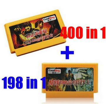 400 in 1 + 198 in 1 2st 8 Bit FC NES Game Cartridge Classical Game Cards