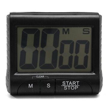 Zwarte LCD Digitale Keukenwekker Count Down Up Klok Luide Alarm