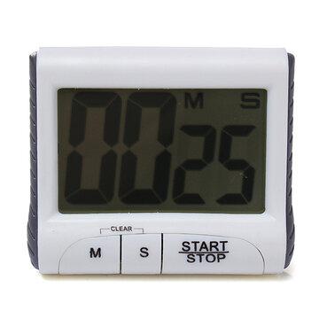 Witte LCD Digitale Keukenwekker Count Down Up Klok Luide Alarm