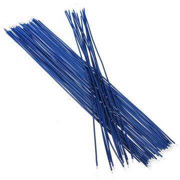 Blauw 50st twee uiteinden met Vertind 20cm Breadboard Jump Kabel