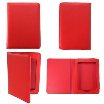 Rood Magnetisch PU Case Cover Ebook Protector Voor Kindle Paperwhite Reader