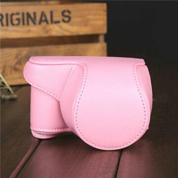 Roze PU Leer Camera Tas Deksel Pouch Voor Sony A5000 A5100 NEX 3N