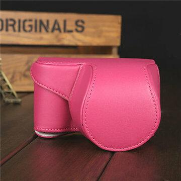Roze Rood PU Leer Camera Tas Deksel Pouch Voor Sony A5000 A5100 NEX 3N
