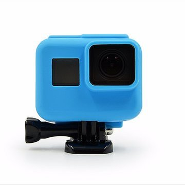 Blauw Silicone Beschermhoes Deksel Skin Sleeve Wrap Protector Voor Gopro Hero 5