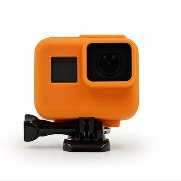 Oranje Silicone Beschermhoes Deksel Skin Sleeve Wrap Protector Voor Gopro Hero 5